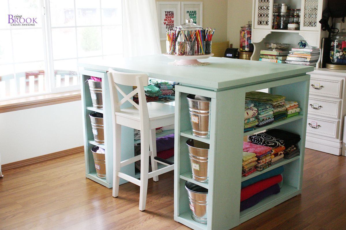 Craft Room Desk  Ah!!  Sugar Bee Crafts