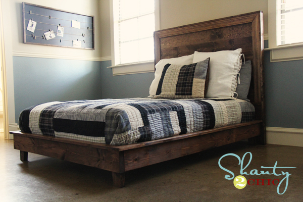 how to make a queen size platform bed frame