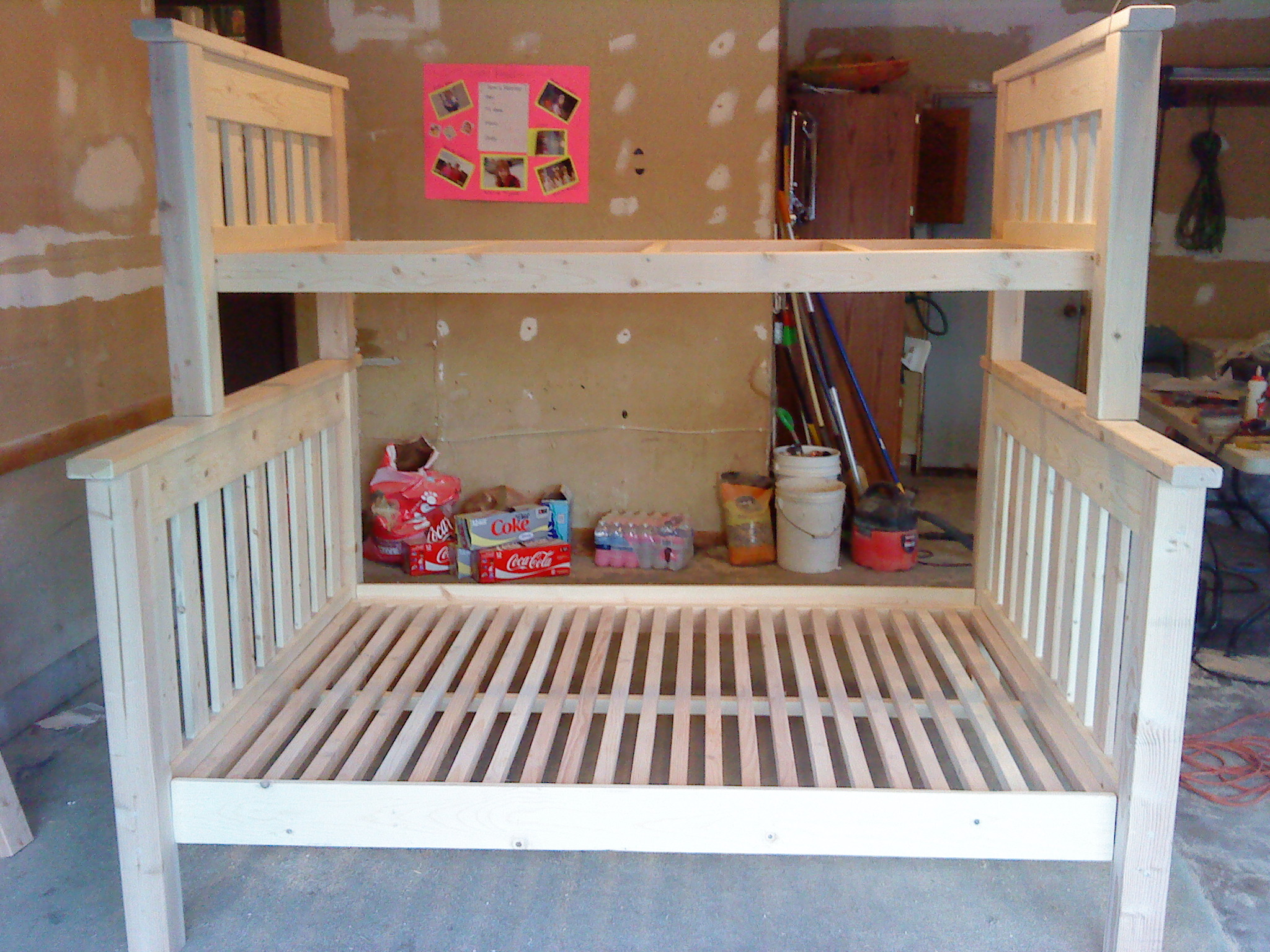 Twin Over Full Bunk Bed Plans DIY Blueprint Plans Download ...