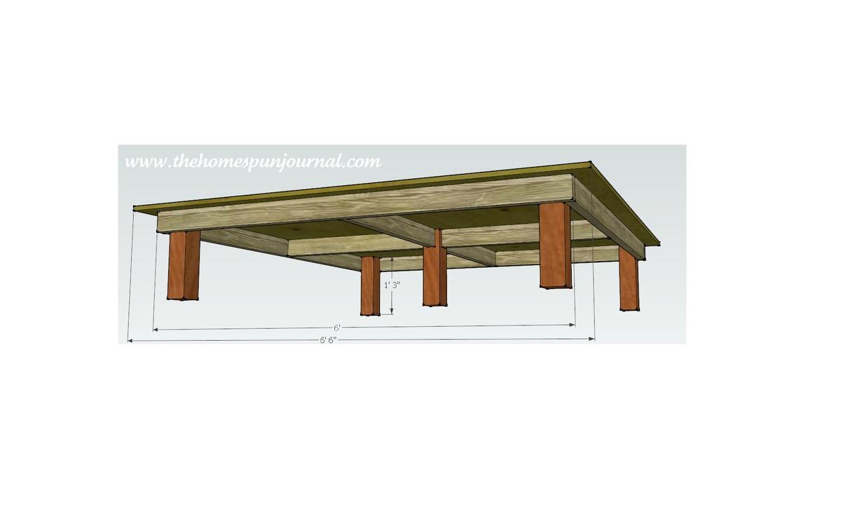 king size platform bed diy