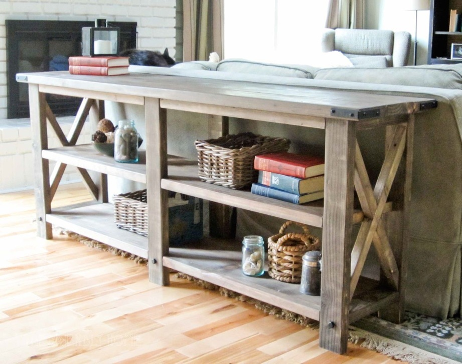 build a rustic sofa table small scale sofas ready to emble ana white x console diy projects free step by plans from com