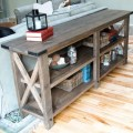 Rustic x console free and easy diy project and furniture plans