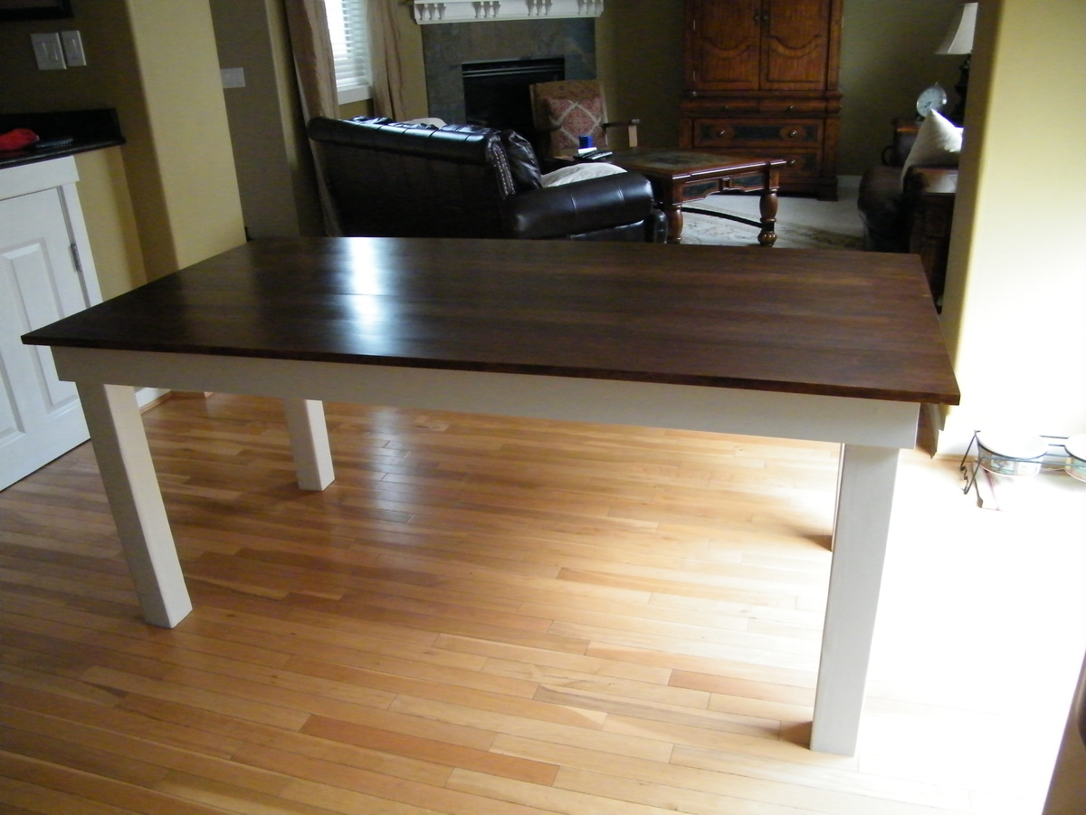 Ana White  Rustic Kitchen Table  DIY Projects
