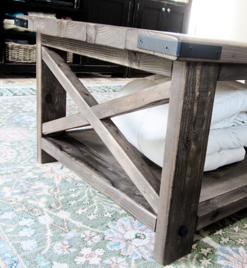 x coffee table plans