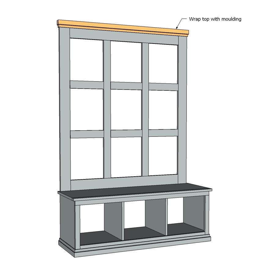 Foyer Bench With Storage Plans : Pdf free plans hallway storage bench diy