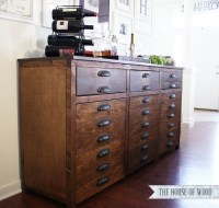 Ana White | Printers Triple Console Cabinet - DIY Projects