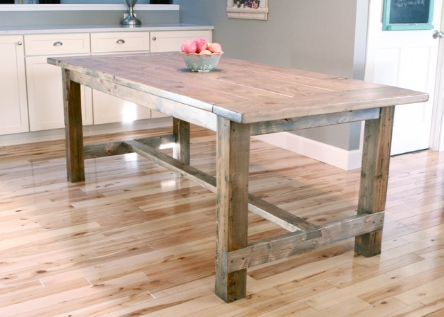 Farmhouse Table - Updated Pocket Hole Plans