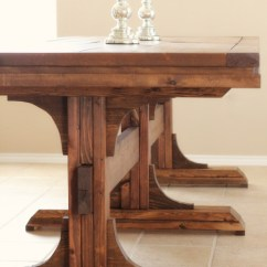 Pedestal Kitchen Table Outdoor Kitchens Lowes Ana White Triple Farmhouse Diy Projects