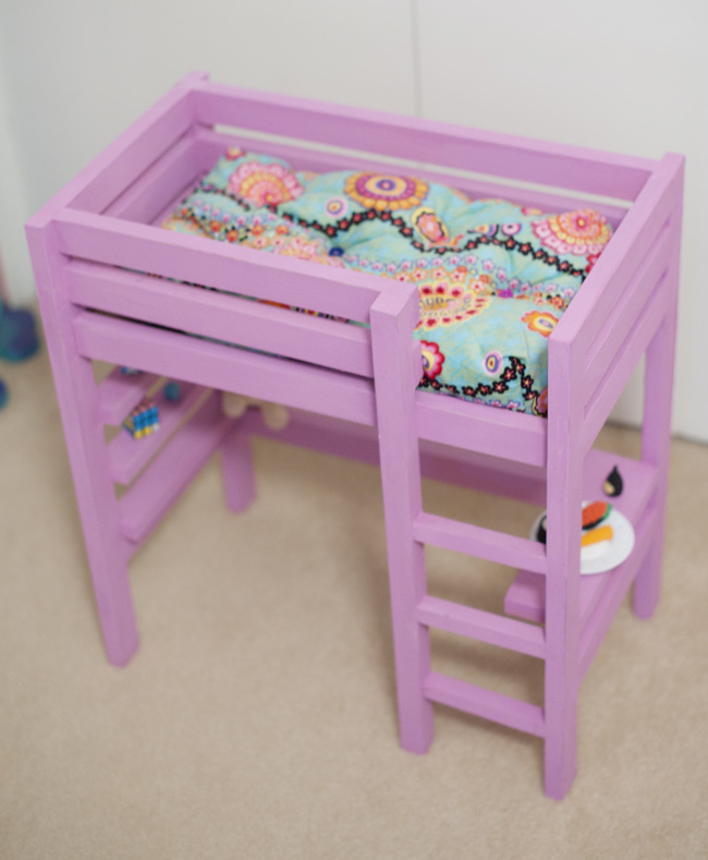 18 inch doll loft bed plans