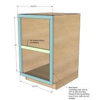 Ana White | Face Frame Base Kitchen Cabinet Carcass - DIY ...