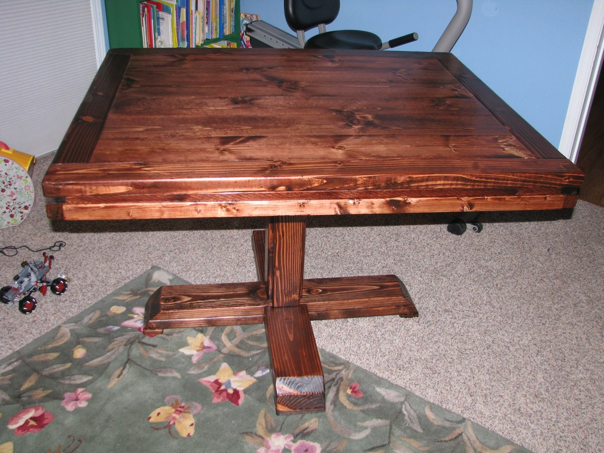 Ana White Square Pedestal Table - Diy Projects