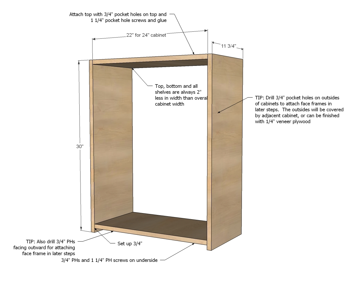 building a built in cabinet plan