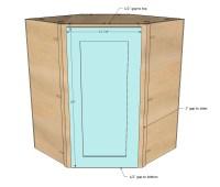 Ana White | Wall Kitchen Corner Cabinet - DIY Projects