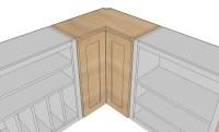 Wall Corner Pie Cut Kitchen Cabinet - Rumah Impian