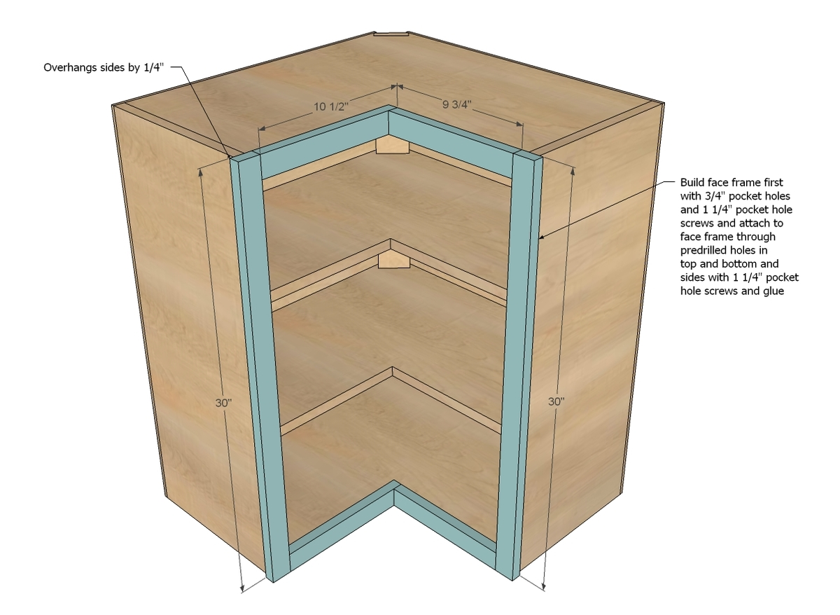 Build DIY How To Make A Corner Cabinet In Kitchen PDF