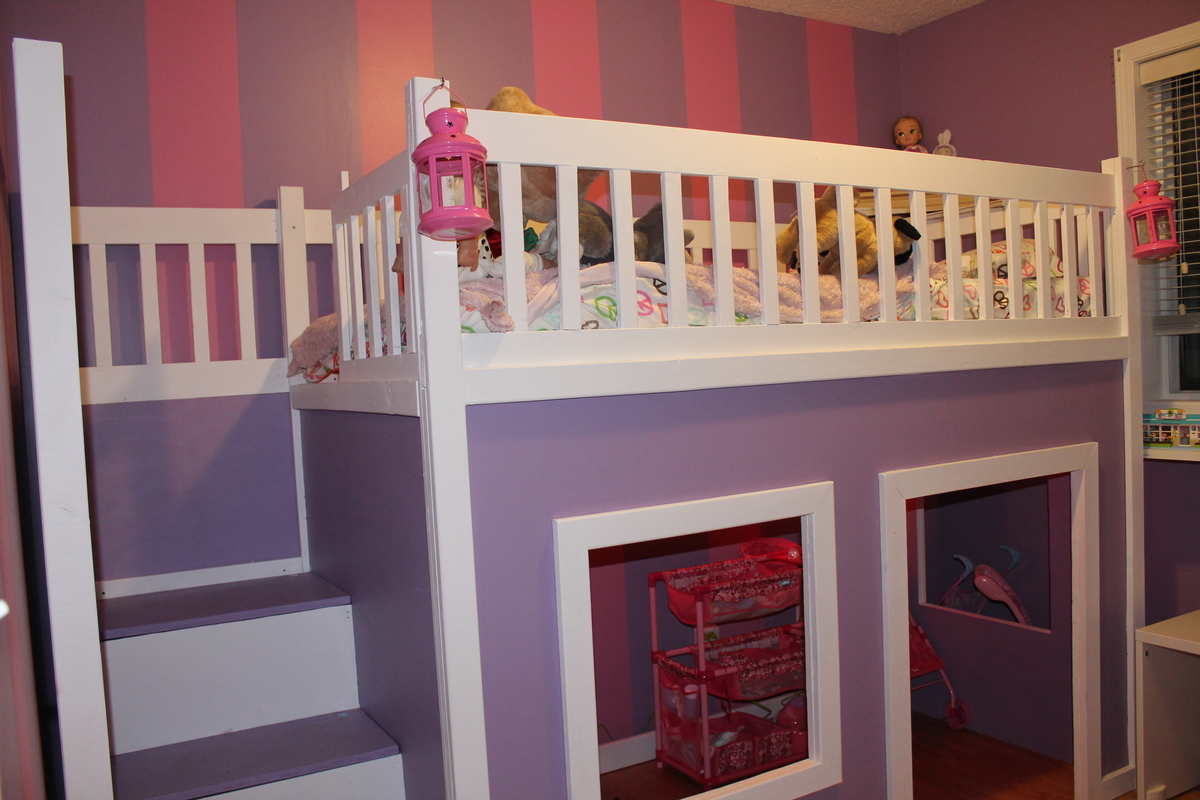 Pdf Plans Ana White Playhouse Loft Bed Plans Download
