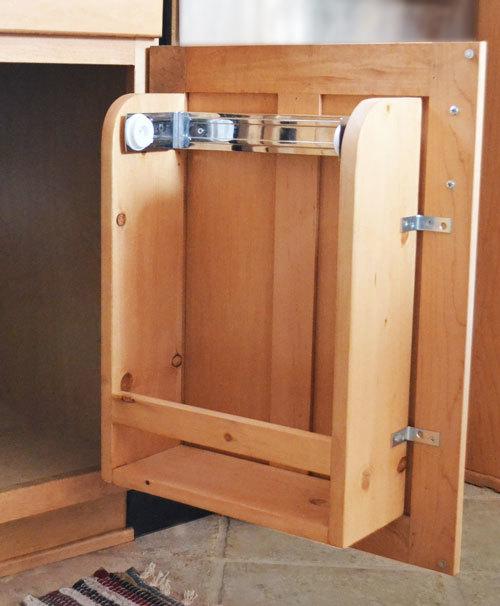 kitchen cabinet door organizer paper