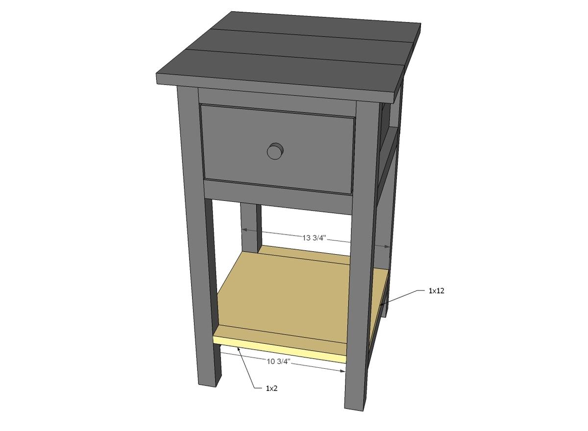 Mini Farmhouse Bedside Table Plans - DIY Projects