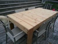 Cedar Dining Table - Dining room ideas