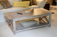 Ana White | Rustic X Coffee Table with Bread Boards - DIY ...