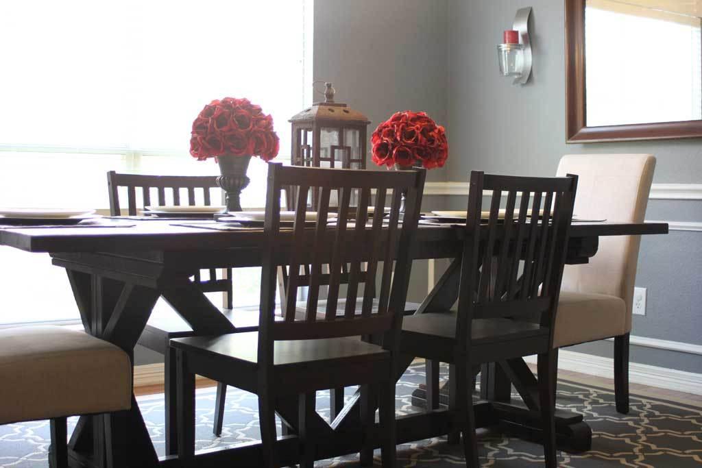 AmusingMJ's Fancy X-Leg Farmhouse Table - DIY