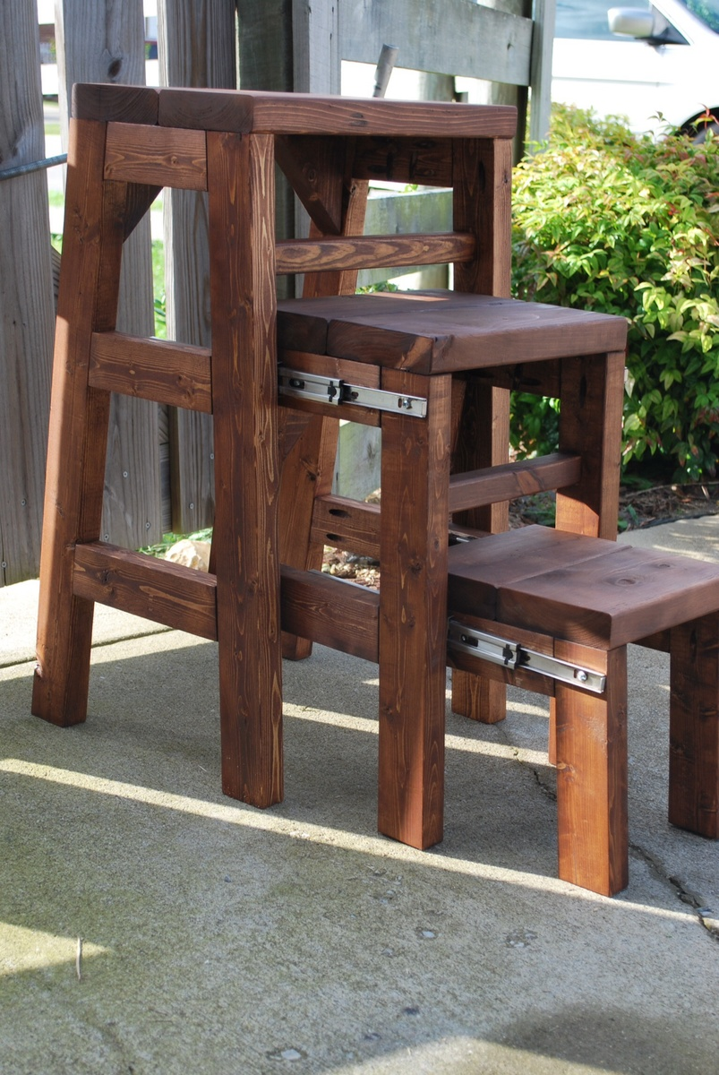 Chair Ladder Ana White Pull Out Step Stool Diy Projects