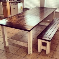Ana White | Stained and Distressed Farmhouse Table and ...