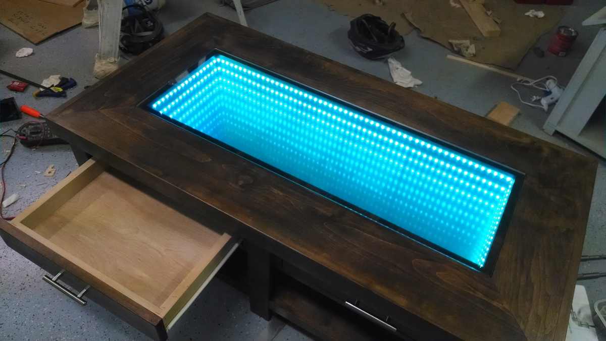 Ana White  Infinity Mirror Coffee Table  Diy Projects