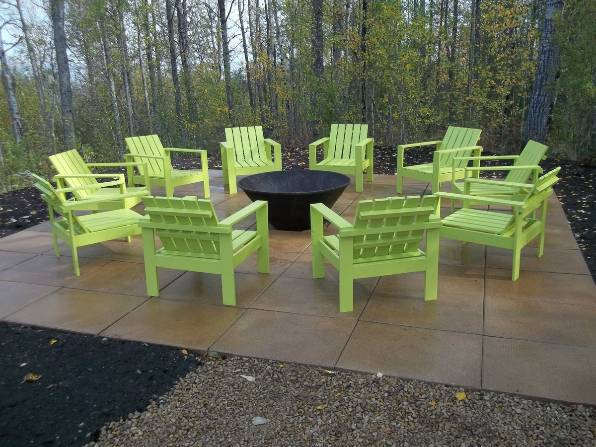Chairs Around Fire Pit Ana White Simple Outdoor Chairs For The Firepit Diy