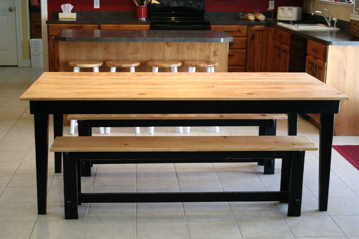 kitchen table benches artwork for ana white rustic farm and diy projects