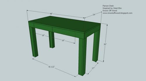 simple wooden desk plans