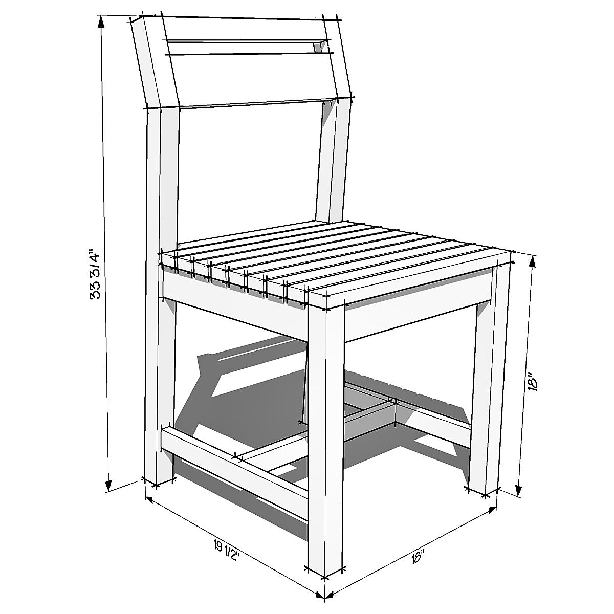Modern Angle Chair