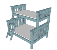 Ana White   Twin over Full Simple Bunk Bed Plans - DIY ...