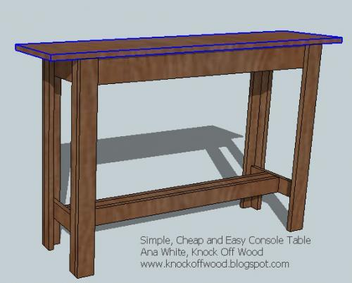 simple cheap and easy console table