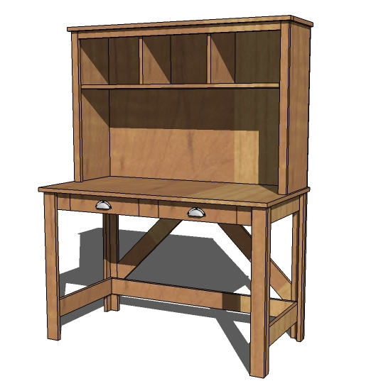 plans for computer desk and hutch