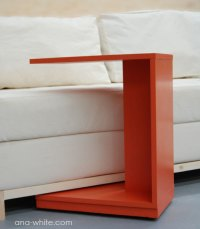 Ana White   Rolling C End Table or Sofa Table - DIY Projects