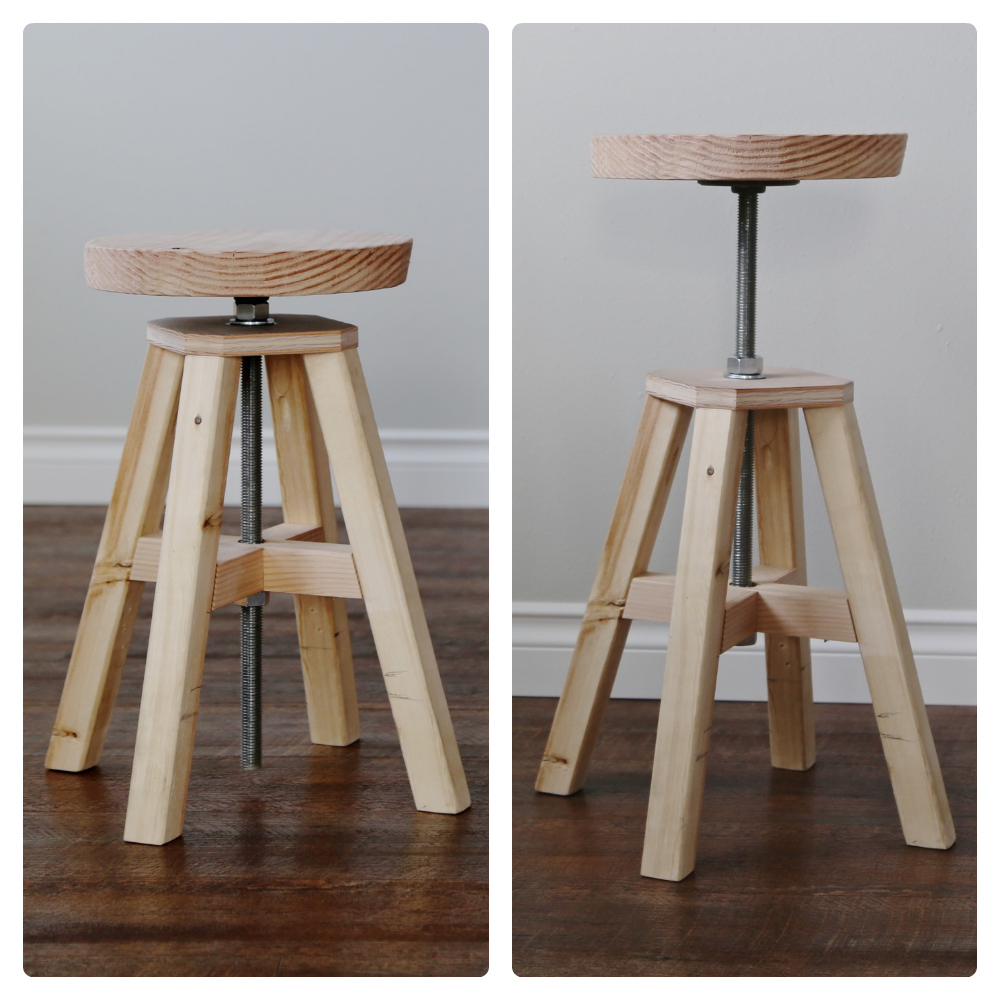 adjustable height chairs hammer miller chair ana white wood and metal stool diy projects