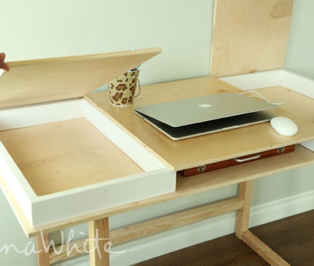 Ana White Desktop With Storage Compartments Build Your Own Desk Collection Diy Projects
