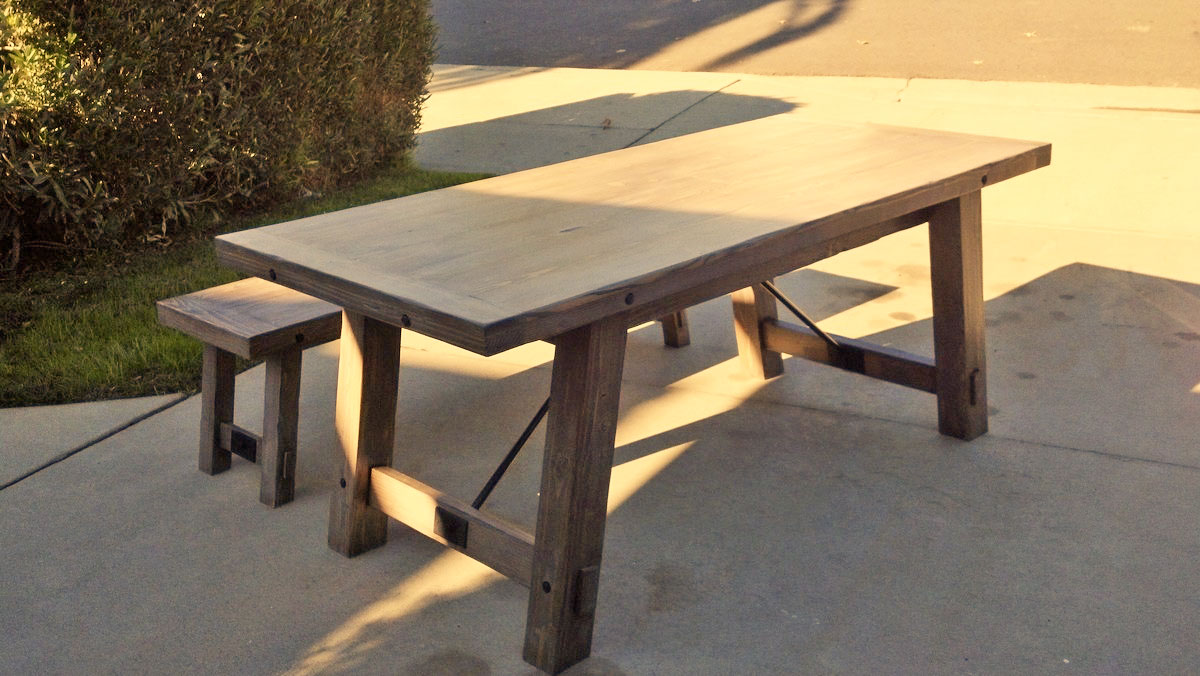 Benchright Industrial Farmhouse Table Ana White