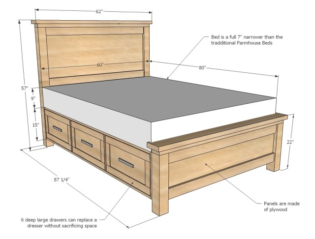 Queen Storage Beds with Drawers