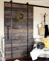 Ana White | DIY Pallet Sliding Barn Door and DIY Track ...