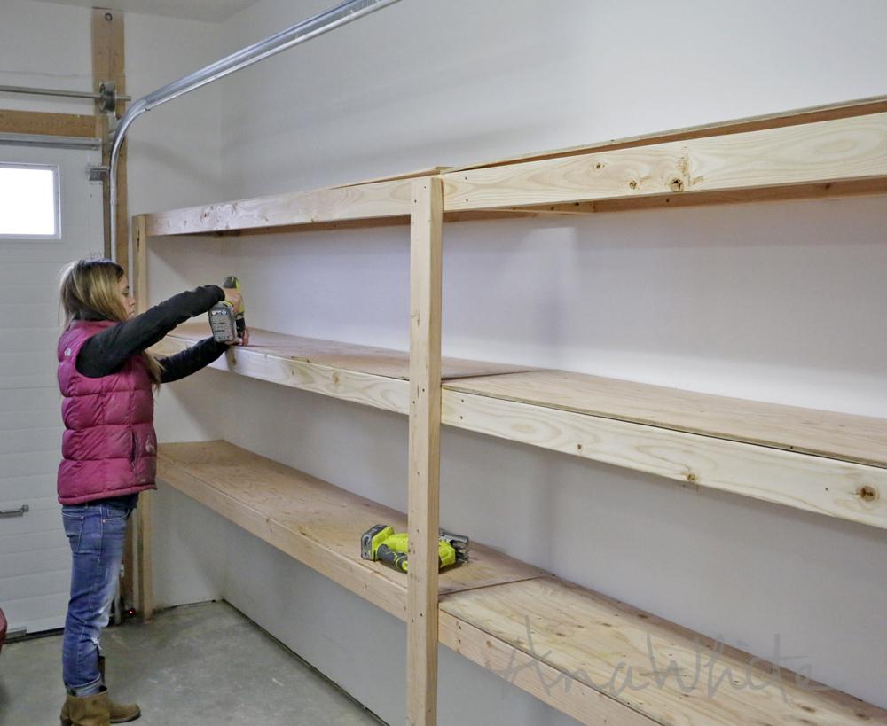 Easy And Fast DIY Garage Or Basement Shelving