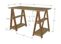 Ana White | 1x3 Sawhorse Desk - DIY Projects