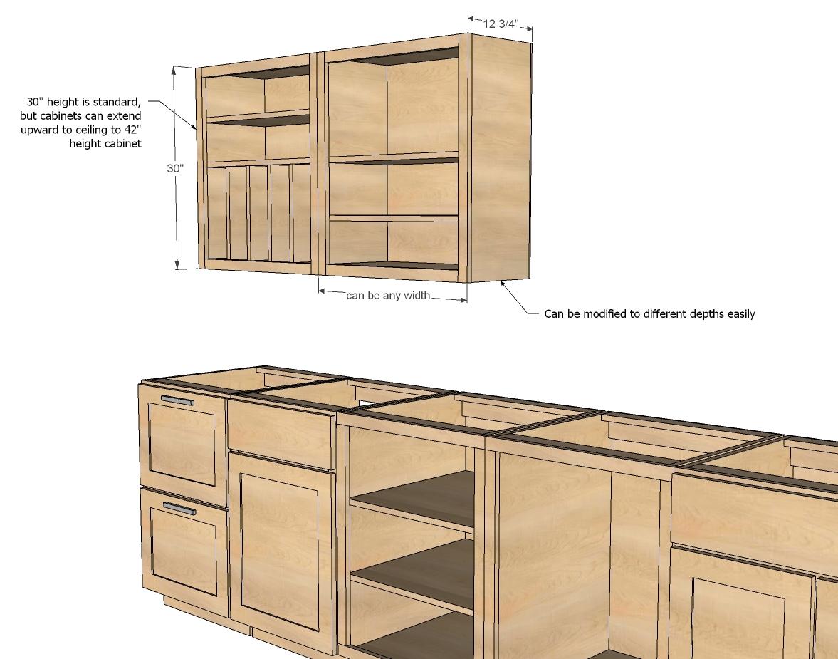 Wall Kitchen Cabinet Basic Carcass Plan - DIY