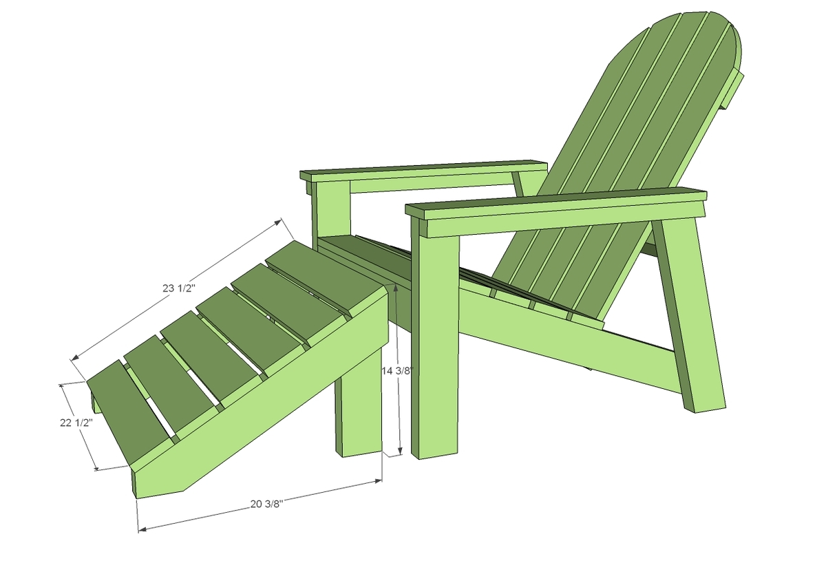 Plans For Adirondack Chairs Ana White Home Depot Adirondack Footstool Diy Projects