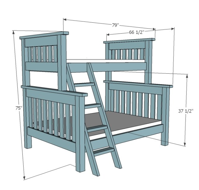 Twin Over Full Bunk Beds Plans