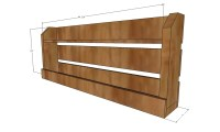 Ana White | Small Pallet Inspired Coat Rack with Shelves ...