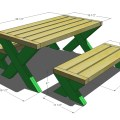 Wood picnic table without benches ktfrps com