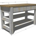 Kitchen island free and easy diy project and furniture plans