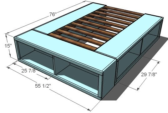 queen size under bed storage plans